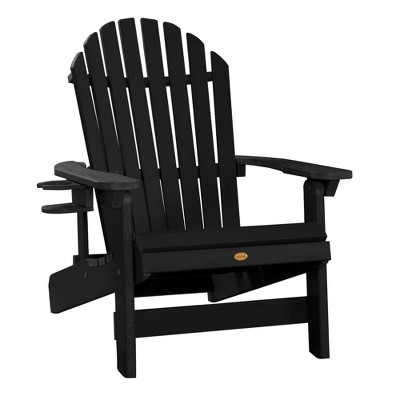 king hamilton adirondack patio chair with cup holder black highwood