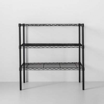 3 tier wide wire shelf black made by design
