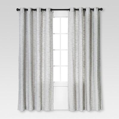 84 x54 diamond weave window curtain panel radiant gray threshold