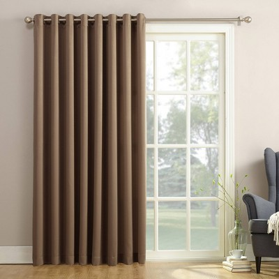84 x100 seymour extra wide energy efficient room darkening patio door curtain panel mocha sun zero