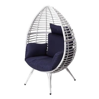 wicker patio egg chair white peaktop