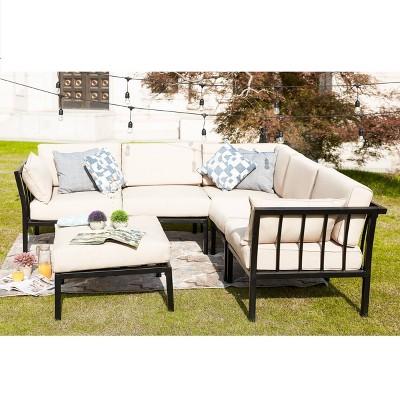 6pc sectional sofa patio conversation set patio festival