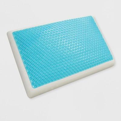 standard reversible cool gel and memory foam pillow white jubilee mattress