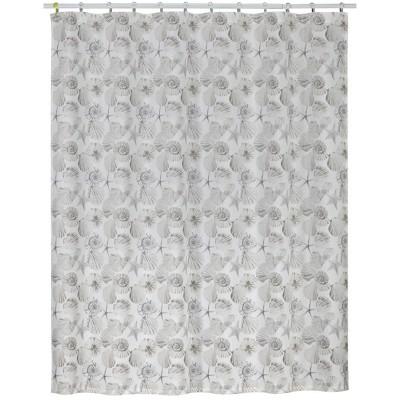shell cove shower curtain white creative bath