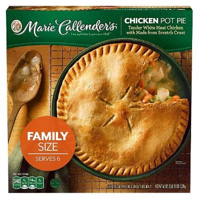 marie callender s frozen chicken pot pie family size 45oz