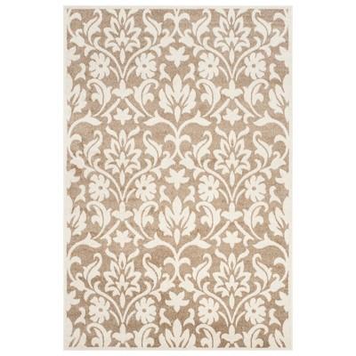 5 x8 rectangle amherst outdoor patio rug wheat beige safavieh