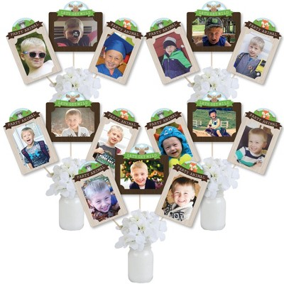 Big Dot Of Happiness Woodland Creatures Baby Shower Or Birthday Party Picture Centerpiece Sticks Photo Table Toppers 15 Pieces Target