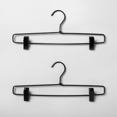 2pk metal pant hanger black made by design
