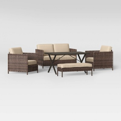monroe 5pc chow height patio dining set tan threshold