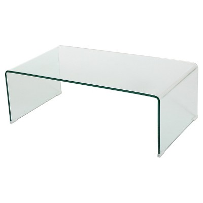 ramona glass rectangle coffee table clear christopher night home