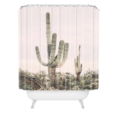 sisi and seb pastel cactus shower curtain pink deny designs