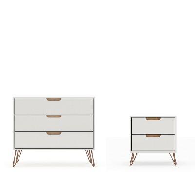 rockefeller dresser and nightstand set off white natural manhattan comfort