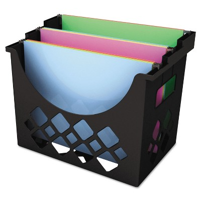 universal recycled desktop file holder plastic 13 1 4 x 8 1 2 x 9 5 8 black 08123
