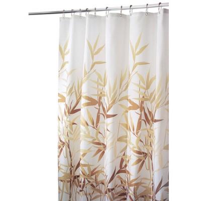 leaf shower curtain white brown idesign