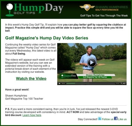 Humpday Email Newsletter