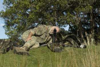 Hunter prone with straight scope