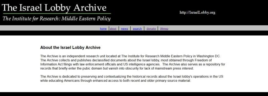 Israeli Lobby Archives