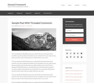 Tema Genesis Framework de StudioPress