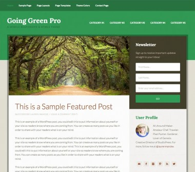 Genesis Going Green Pro Theme by StudioPress