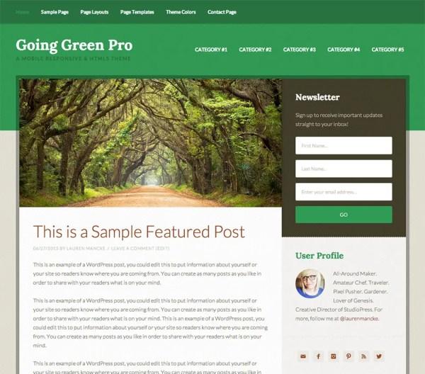 Genesis Going Green Pro Theme by StudioPress