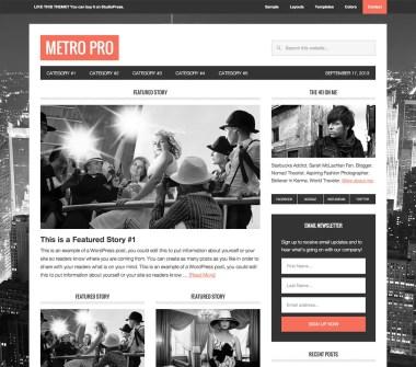 Genesis Metro Pro Theme by StudioPress