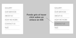 Cómo eliminar el color de fondo de los enlaces en iOS