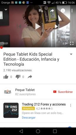 Anuncio Peque Tablet
