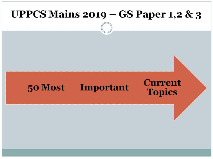 UPPCS Mains 2019 - 2020