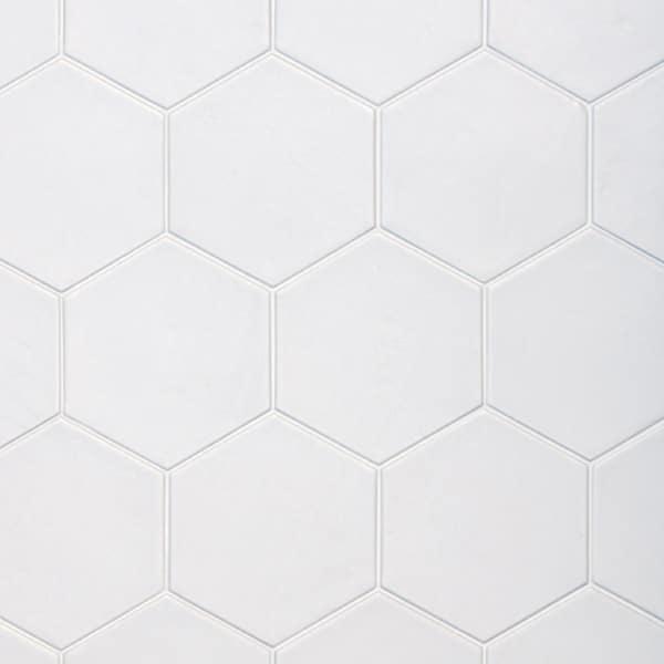 hexagon satin off white 175x200 wall floor tile