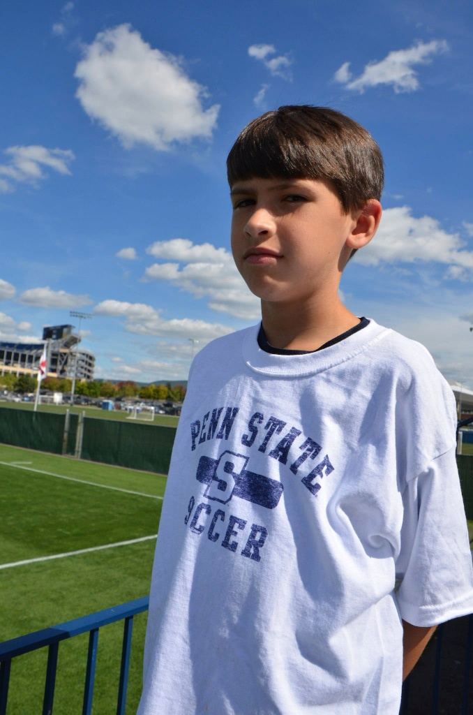 A true Penn State Soccer fan!