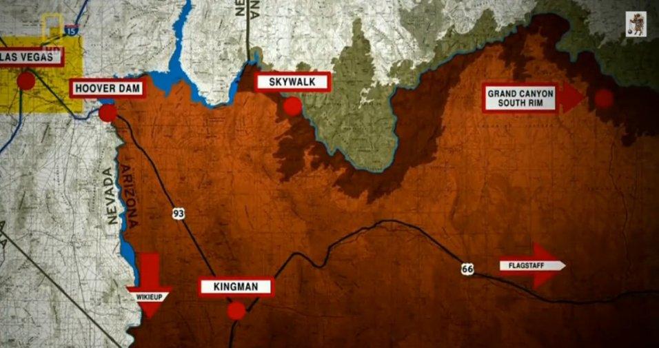 (Light Red) Inhabited land (Dark Red) Reservation