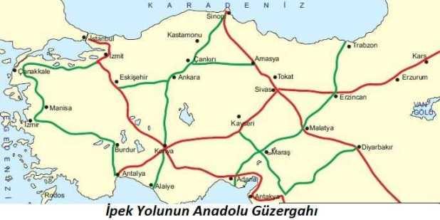 İpek Yolunun Anadolu Güzergahı