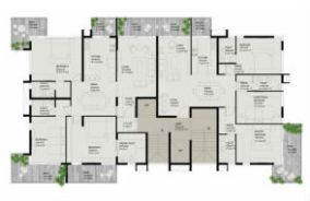 Typical floor plan - 3Bhk