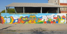 Cultural centre with BRP style mural