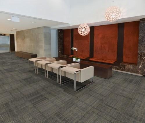 A modern sitting area.