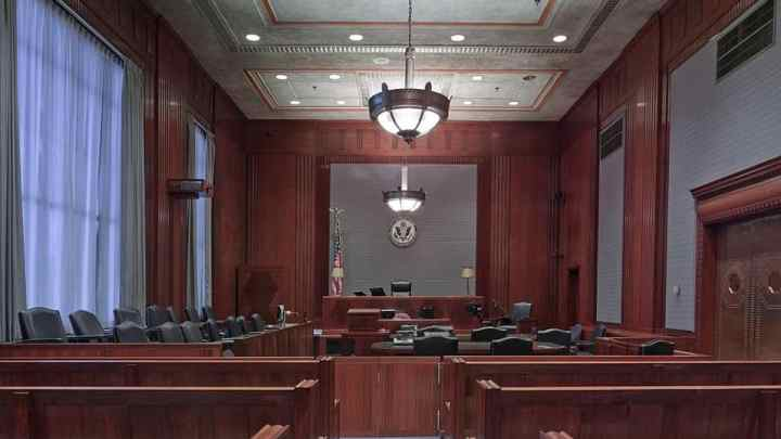 a courtroom where criminal defense lawyers take on their cases