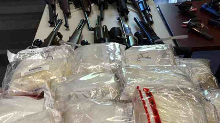 confiscated substances from drug trafficking bust
