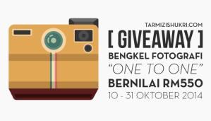 Giveaway Bengkel Fotografi One-to-One Bernilai RM550