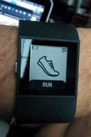Fitbit Surge HR Screen