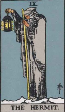 Rider-Waite Hermit card