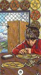 Improving skills: the Eight of Pentacles - Tarot Study