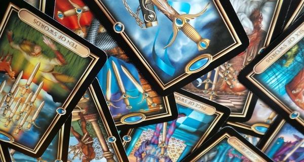Gilded Tarot Swords Reversals