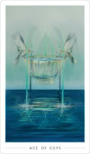 Ace of Cups Fountain Tarot