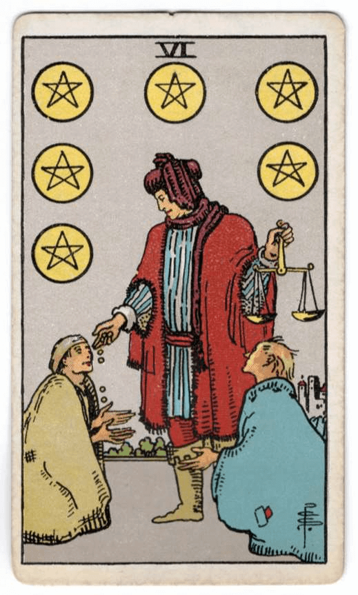 Six Of Pentacles Ace Of Cups Ace Of Pentacles Tarot The cup's man now knows the value of his cup's contents and is not willing to let people treat them as they wish. six of pentacles ace of cups ace of