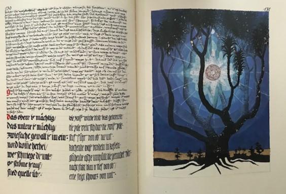 Pagina uit het rode boek van Carl Jung