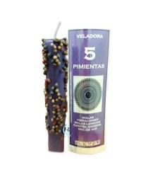 Veladora 5 pimientas