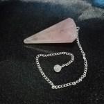 Péndulo cuarzo rosa