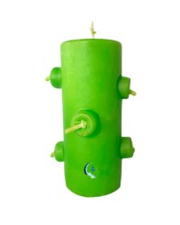 Velón 7 mechas color verde