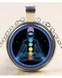 Colgante de cristal 7 Chakras
