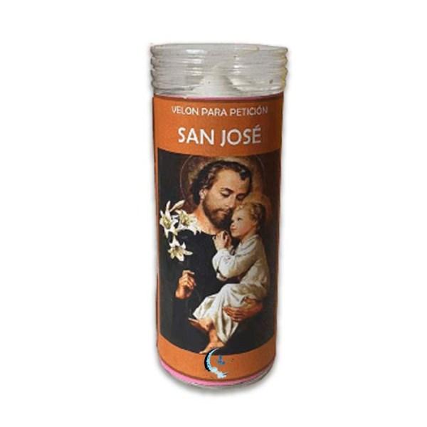 Velón de oración con aceite San José